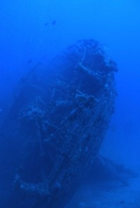 Stern of the WW2 wreck the SS TURBO
